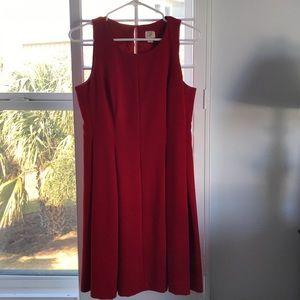 LOFT - Pleated red dress - Sz. 4